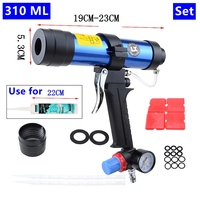 Pneumatic Caulking Gun Set 310ml Glass Glue Gun Air Rubber Gun Tool Caulking Gun Glass Glue