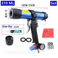 Pneumatic Caulking Gun set 310ml Glass Glue Air Rubber Guns Tool Caulking tools
