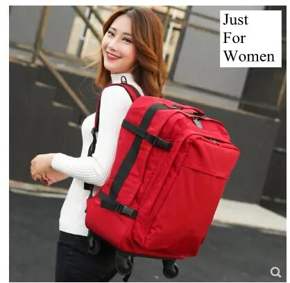 travel trolley backpack for women wheeled luggage bag travel Backpack bags wheels suitcase Rolling travel shoulder bag on wheels