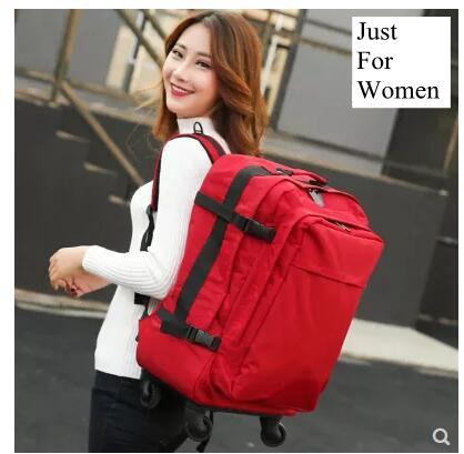 Sac à dos trolley de voyage pour femme sac à bagages à roulettes sac à dos de voyage valise à roulettes sac à bandoulière de voyage à roulettes