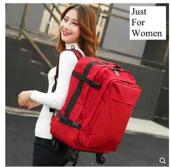 travel trolley backpack for women wheeled luggage bag travel Backpack bags wheels suitcase Rolling travel shoulder bag on wheels - DISCOUNT ITEM  15% OFF All Category
