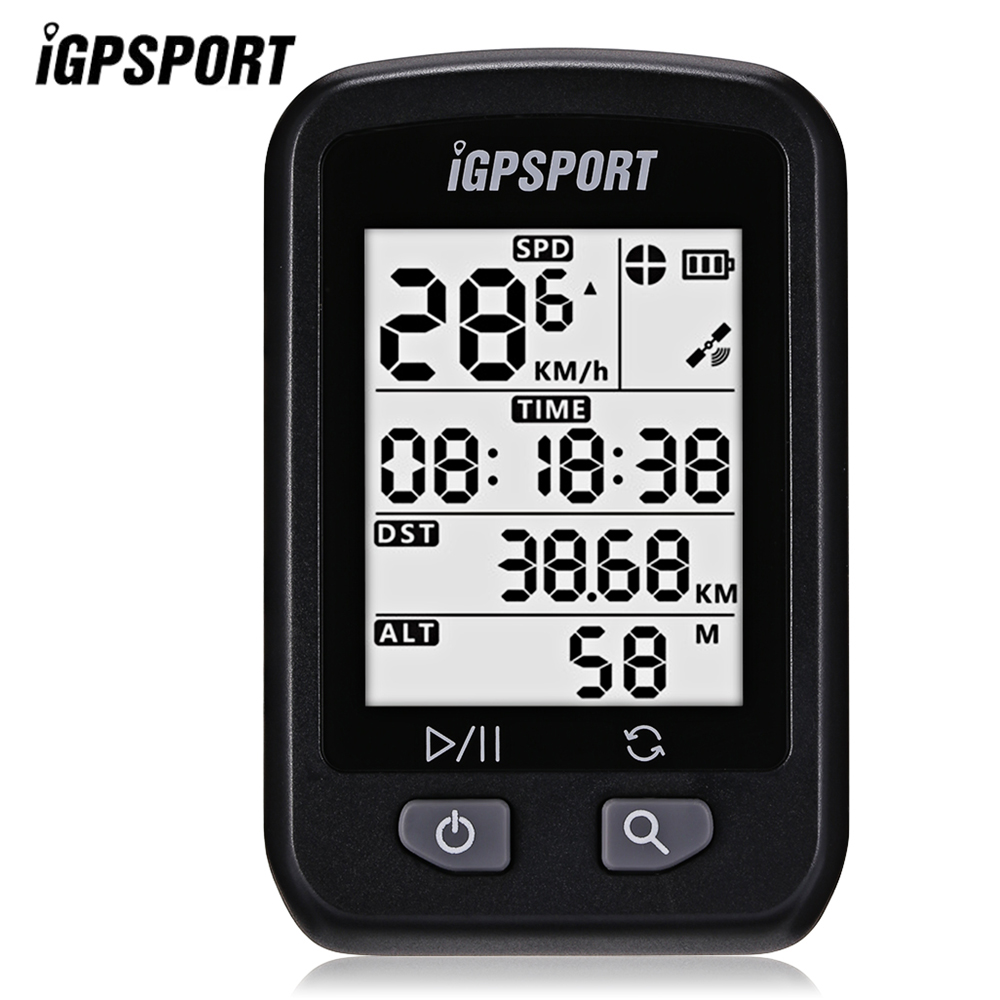 iGPSPORT iGS20E Waterproof IPX6 Wireless GPS Cycling Bicycle Bike Computer Odometer with Large anti-glare LED screen