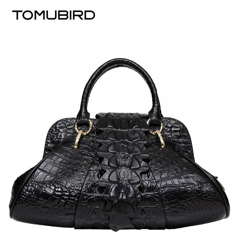 Famous brand top quality Cow Leather women bag European and American style leather handbag Crocodile pattern handbag