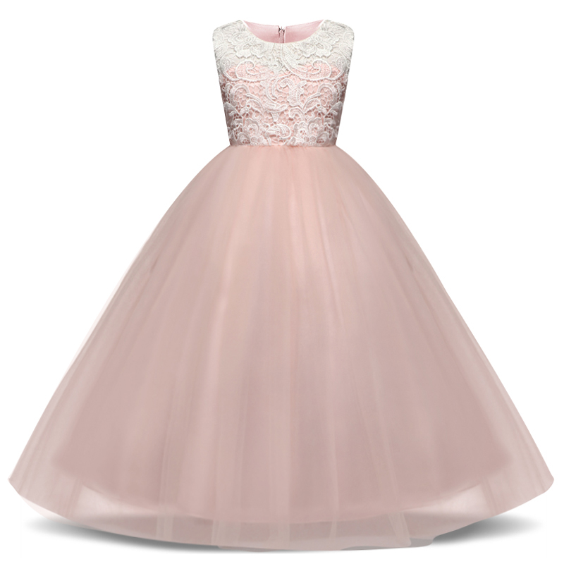 Children Princess Girl Christmas Party Dress Flower Tulle Wedding Gown Formal Wear Teen Kids Dresses For Girls Ceremony Vestidos 5
