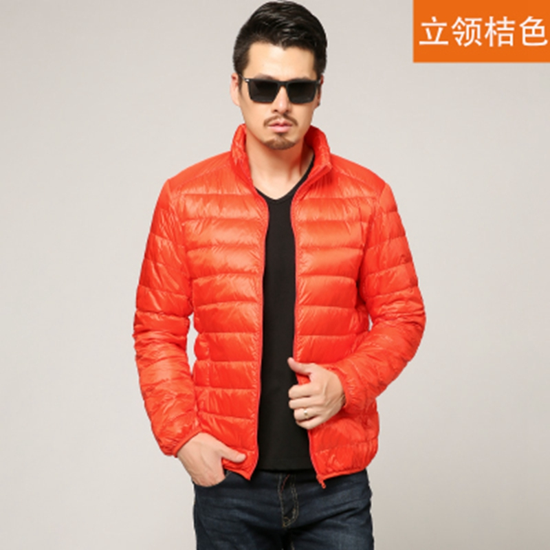 97df2ba6e31 New Autumn Winter Man Duck Down Jacket Ultra Light Thin Plus Size Spring  Jackets Men Stand Collar Outerwear Coat only  24.69