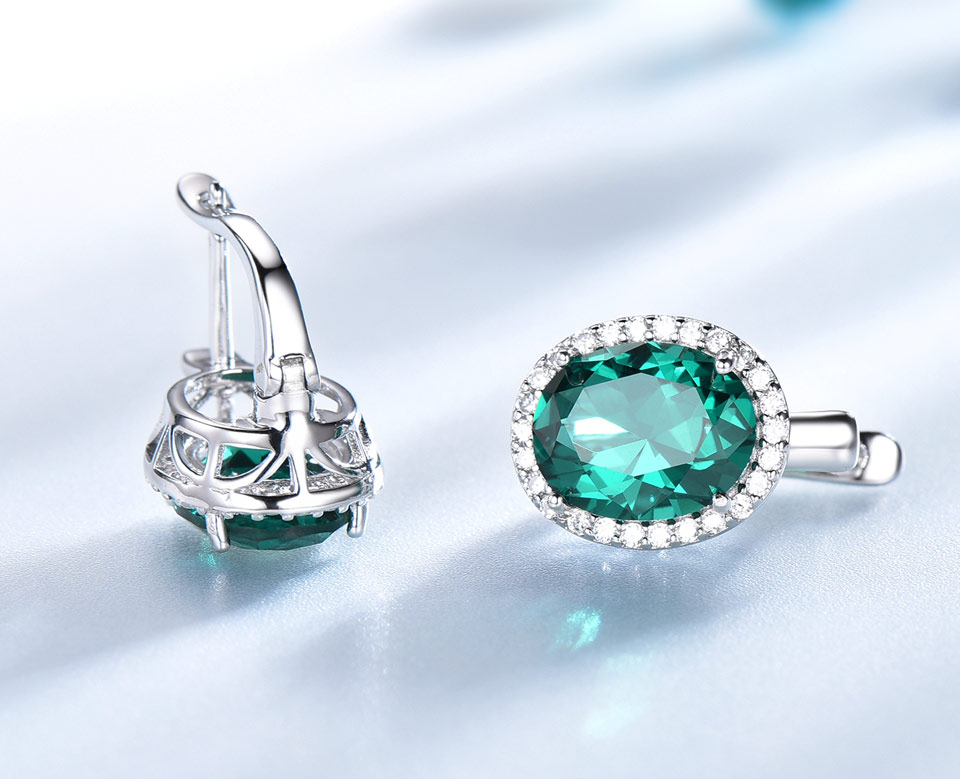 UMCHO-Emerald-925-sterling-silver-clip-earring-for-women-EUJ084E-1-PC_05