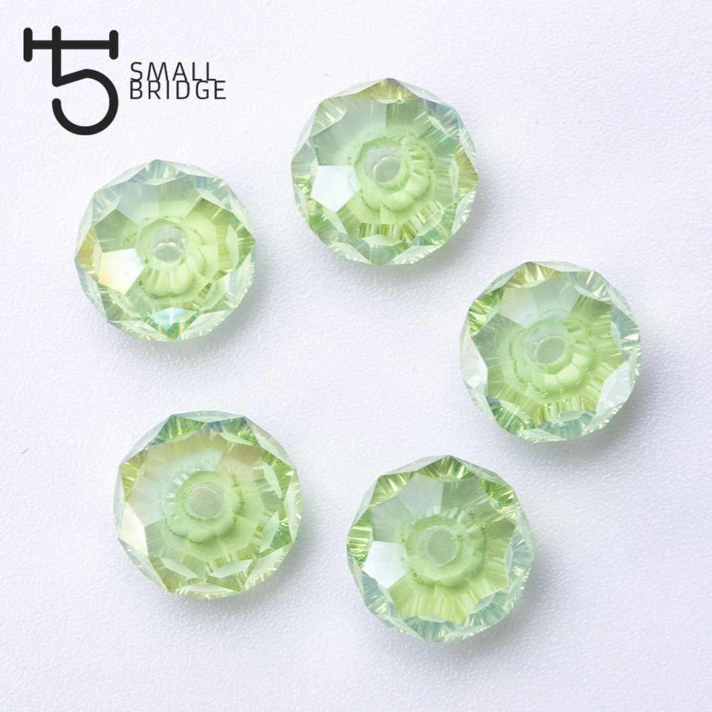150 Buah 4 Mm Bahasa Swedia Segi Rondelle Manik-manik Kaca Diseduh Sendiri Membuat Perhiasan Kristal Pengatur Jarak Manik-manik untuk Gelang Campuran Longgar Bead grosir Z301