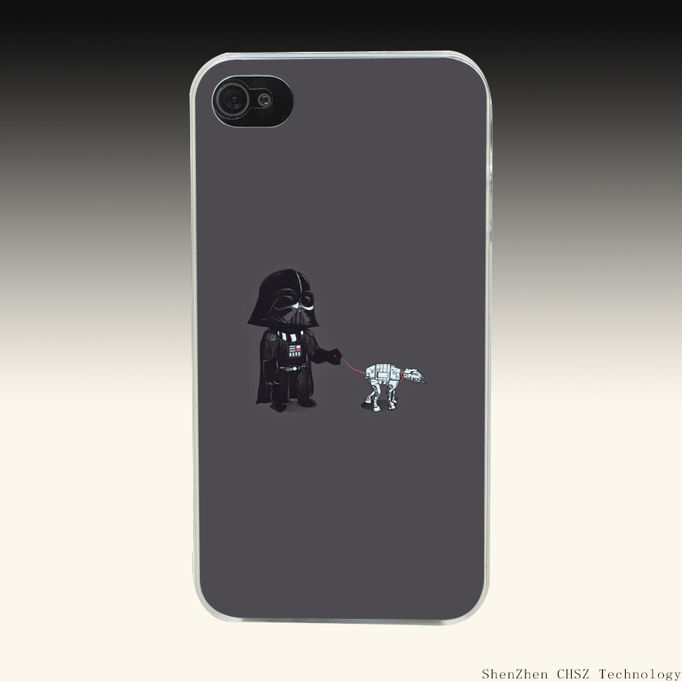 167R Darth Vader Hard Clear Case Transparent Cover for iPhone 4 4s 5 5s SE 6 6s 7 Plus