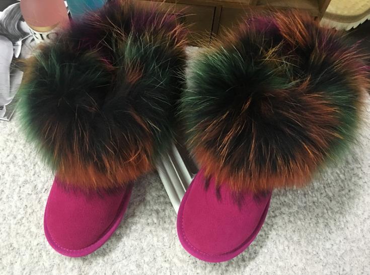 Pelle Snow Boots Neve Elegante Caldo E Ms In Da Antiscivolo Di Preferito Casual Scarponi Femminile Indossare Cuoio qZtAaRxw