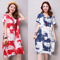 Maternity clothes Cotton clothing for pregnant women in pregnant women.Printed comfortable maternity dress.Free shipping