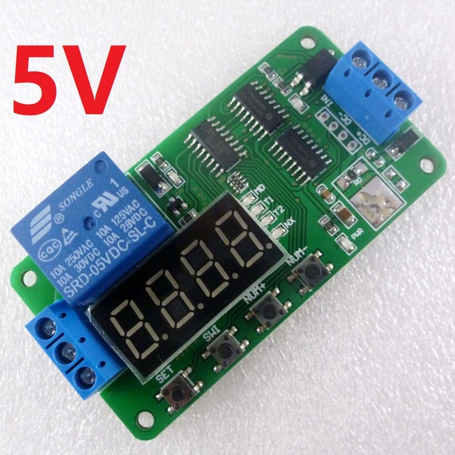 R$ 19 61 5% de desconto 5 V Multifunções Interruptor de Atraso de Tempo  Relé Temporizador Ciclo Módulo PLC para Arduino UNO MCU Development Boards  em