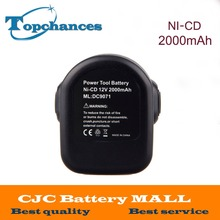 High Quality 12V 2 0Ah Replacement Power Tool Battery for Dewalt 52250 27 DC9071 DE9037 DE9071