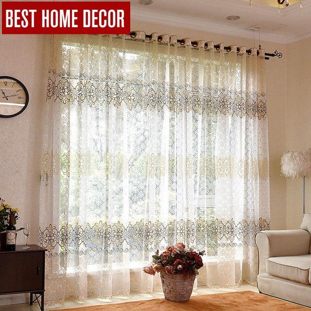 BHD floreale puro tulle tende della finestra per soggiorno camera da letto moderna tende di tulle per la tenda di finestra tende in tessuto tende