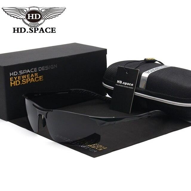 Brand Men 100% Polarized pilot Aluminum Alloy Frame Sunglasses UVA uv 400 Fashion Men's Driving Sun glasses with gift package