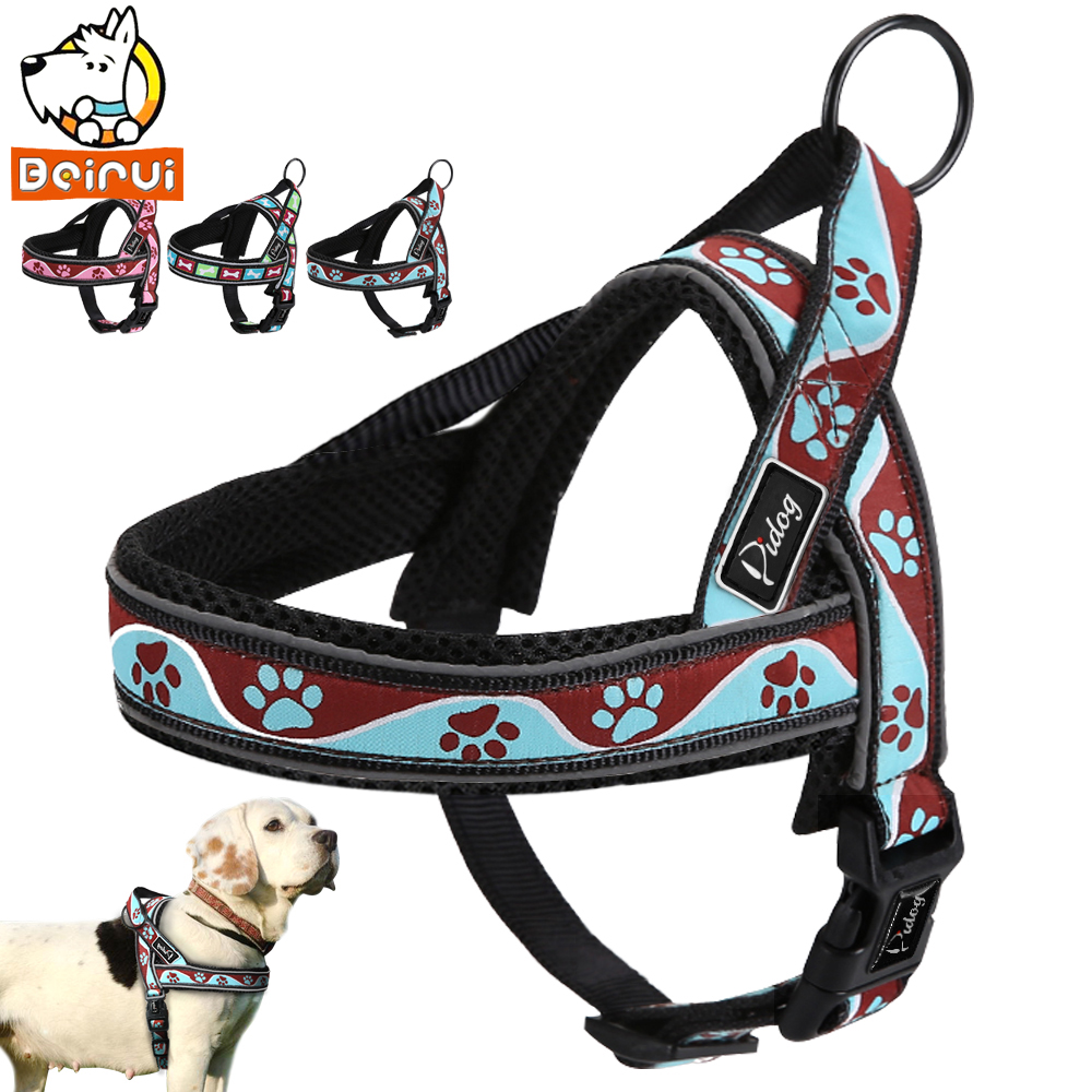 Reflective Dog Harness Adjustable Outdoor Training Dogs