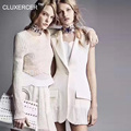 CLUXERCER Brand Career Style Women Sleeveless Vests Dress Brief Single Button Pleated Vest Outerwear
