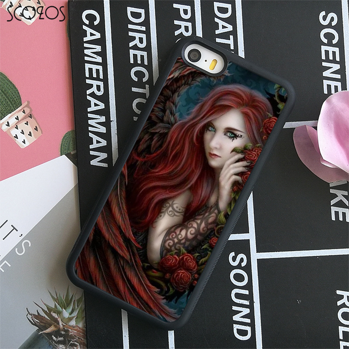 SCOZOS anne stokes (11) phone case cover for iphone X 4 4s 5 5s Se 5C 6 6s 7 8 6&6s plus 7 plus 8 plus#C123