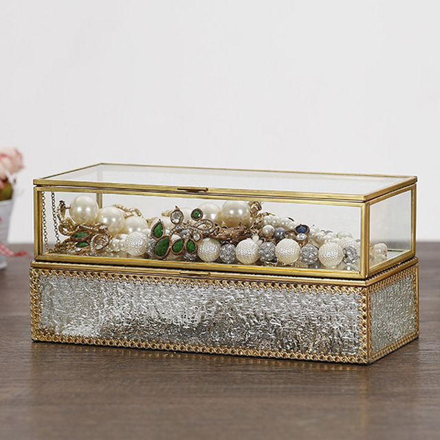 Simple modern phnom penh glass jewelry box European style jewelry