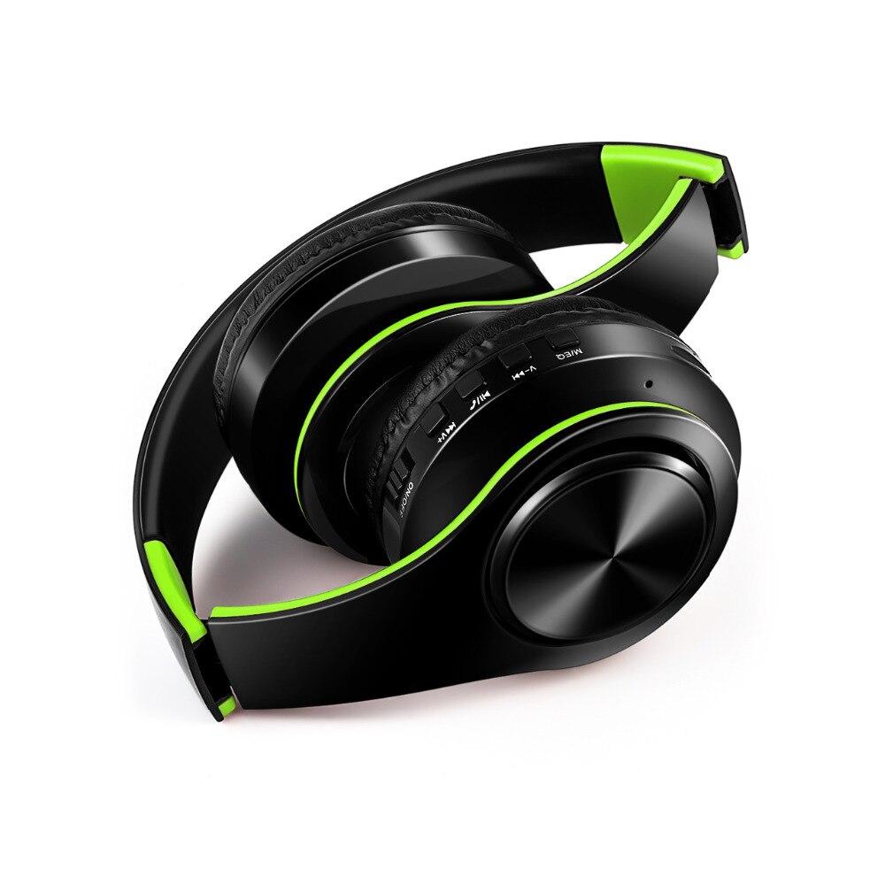 Livraison gratuite sans fil Bluetooth casque stéréo casque musique casque support SD carte avec micro pour mobile ipad