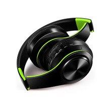 Бесплатная доставка Беспроводная Bluetooth гарнитура со стереонаушниками Музыкальная гарнитура поддержка sd-карты с микрофоном для мобильного ipad