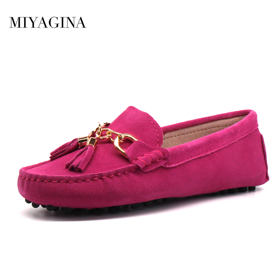 MIYAGINA 2018 New Arrival Casual Womens Shoes Genuine Cowhide Leather Women Loafers Moccasins Fashion Slip On Women Flats Shoes pl us size 38 47 handmade genuine leather mens shoes casual men loafers fashion breathable driving shoes slip on moccasins