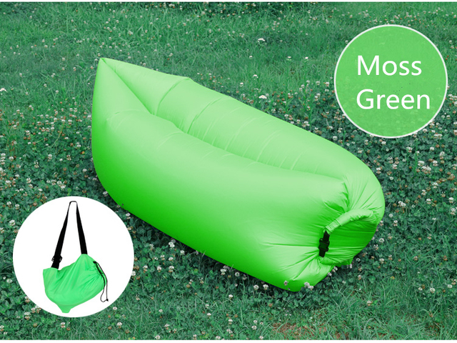 Tumbona Plegable Al Aire Libre Oxford Laybag Aire Rápida Inflación Sleeping Sofá Cama Personalizar Logo Al Aire Libre Piscina Playa de Receso
