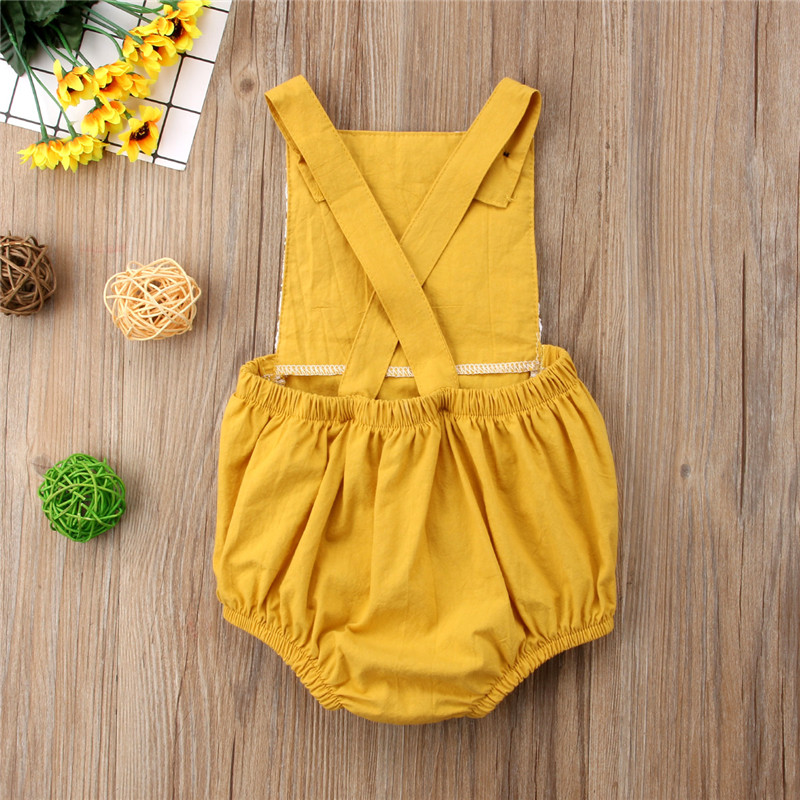 f26c866e87 Summer Lace Flower Baby Girls Romper Jumpsuit Newborn Infant Clothing Baby  Pajamas Costume Girls Holiday Beach Outfit Clothes-in Rompers from Mother    Kids ...