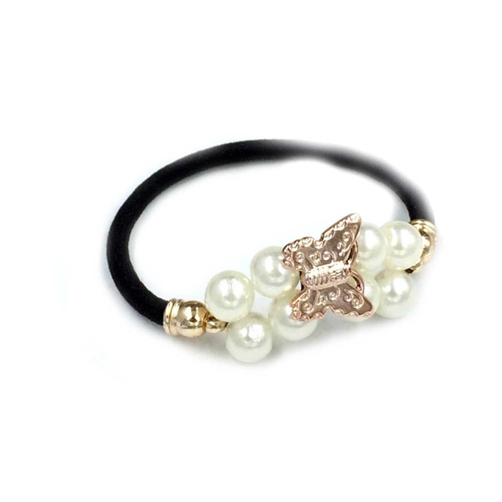 2019 mujeres accesorios para el cabello con perlas diademas soporte Cola de Caballo Scrunchies Vintage bandas de goma para el cabello cuerda tocado