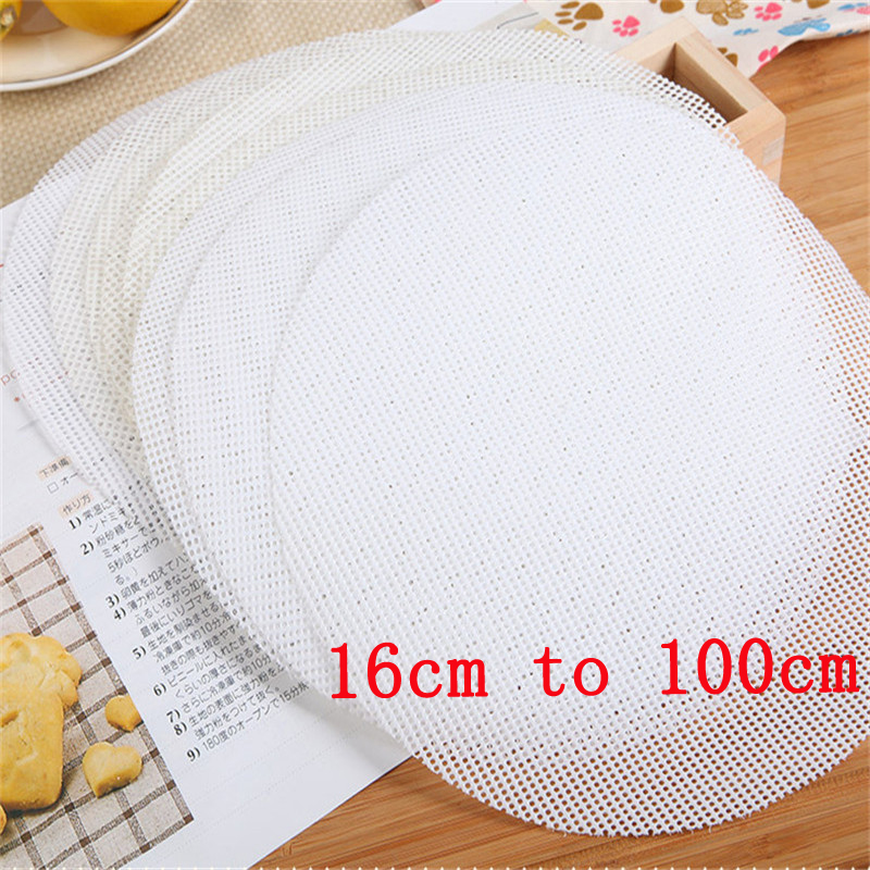 Baking & Pastry Tools 1pc Non-stick White Round Silicone Dumplings Steamer Pad Steamed 6 Sizes Buns Baking Mesh Cooking Pastry Case Mat