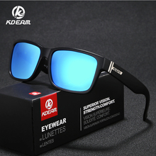 KDEAM New Sports Sunglasses Square Outdoor Mens Shades HD Polycarbonate Goggles 9 Colors With Case KD505
