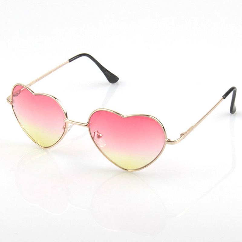 New Style 2015 Fashion Heart Shaped Glasses Metal UV400 ... - photo#20
