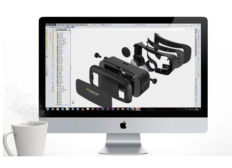 18 Original Shinecon VR Pro Virtual Reality 3D Glasses Headset VRBOX Head Mount Google Cardboard Helmet For Smartphone 4-6inch 5