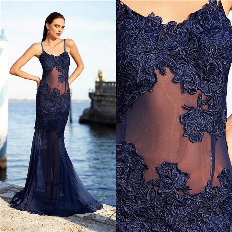 Navy Blue Red Carpet Dresses | Celebrity Navy Blue Formal ...
