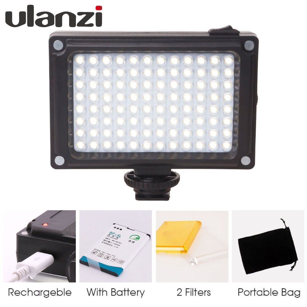 Ulanzi Rechargeable LED Panel Light for Canon Nikon DSLR fill lighting on Camera for Youtube Video