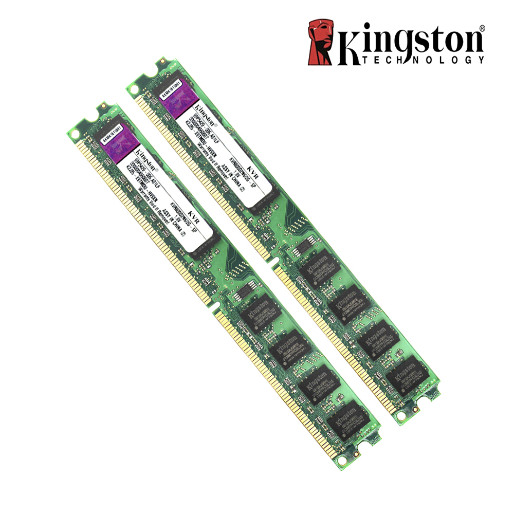все цены на Original Kingston 2GB RAM DDR2 4GB=2pcs*2G PC2-6400S DDR2 800MHZ KVR800D2N6/2G-SP Desktop