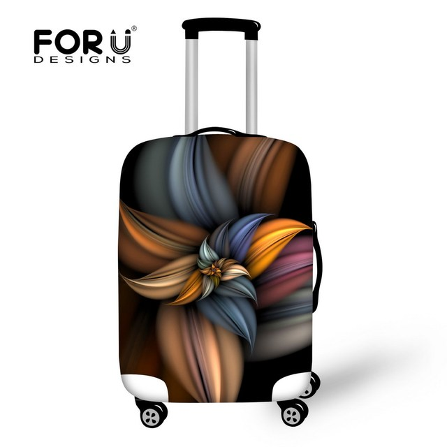 FORUDESIGNS 3D Flower Travel Luggage Protective Cover for 18-30 Inch Trolley Suitcase Elastic Trunk Case Dust Covers with Zipper