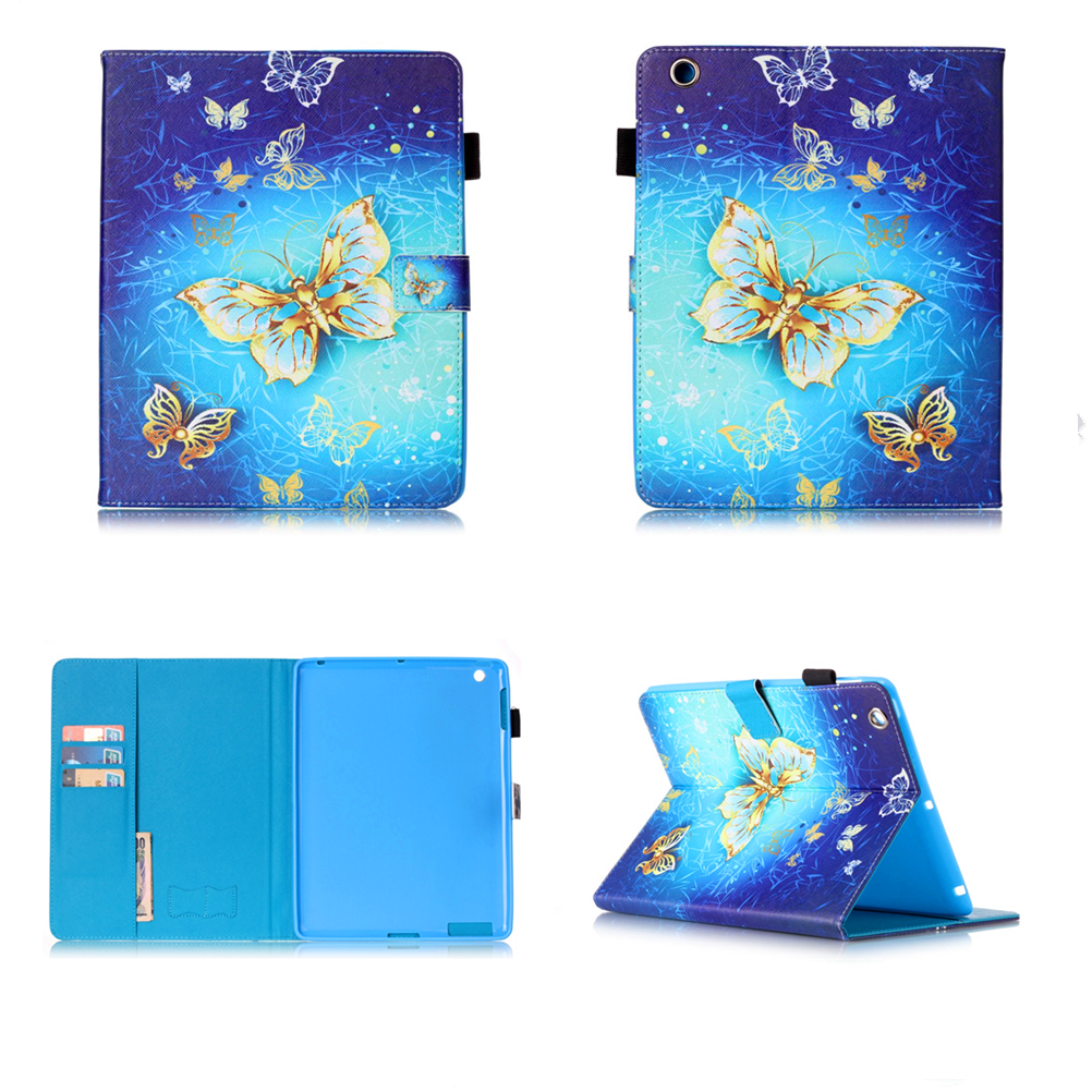 New Case For Apple iPad Air 3 2 1 Butterfly PU Leather Cover Case for Apple iPad 7 6 5 4 3 2 iPad Mini 4 3 2 1 Tablet #M