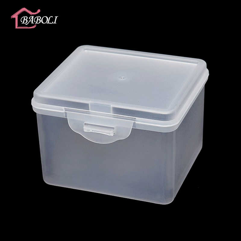 Lidded Small Square Pp Plastic Box For