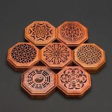 PINNY Rosewood Stick Incense Burner Wooden Eight Sides Censer Crafts Home Decoration Buddha Sandalwood Base