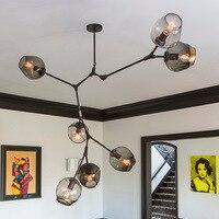 الثريات loft الصناعي غلوب الزجاج أضواء غرفة تصميم الثريا شنقا في غرفة المعيشة/مطعم e27 مصابيح