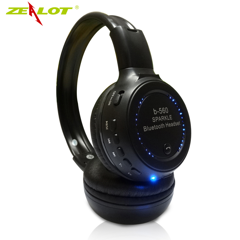 Hot Sale 2016 Original 3.5mm Hand Free Wireless Bluetooth Headphone Super Bass Earphone,FM Radio Mic Headphones Built MP3 Player
