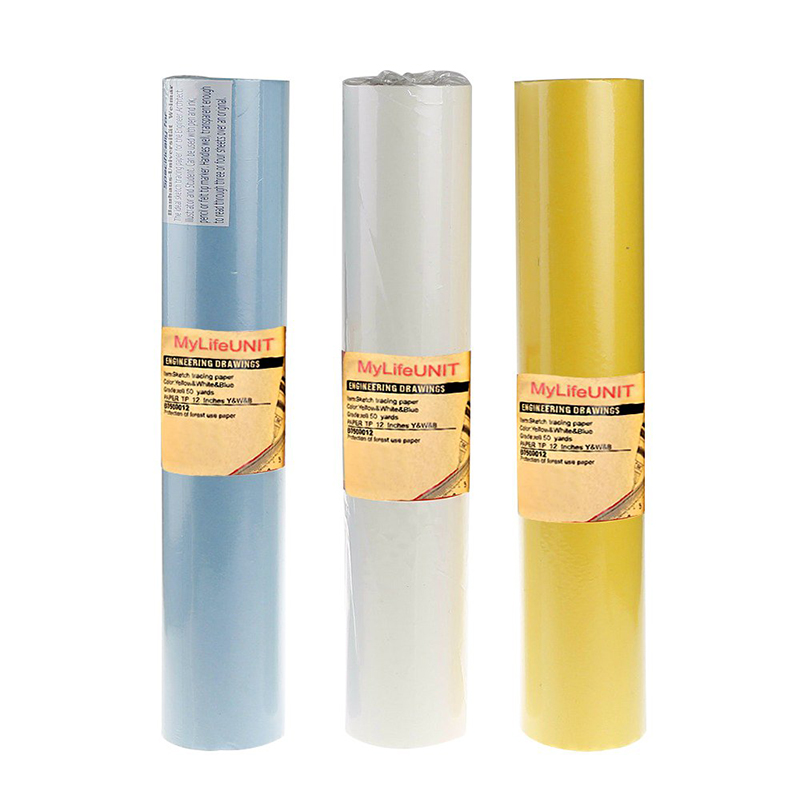 """Sketch Tracing Paper Roll Drawing Paper Watercolor Support Sewing A3 A4 Size Paper Artist Painting Supplies 12"""" X 50 Yards"""