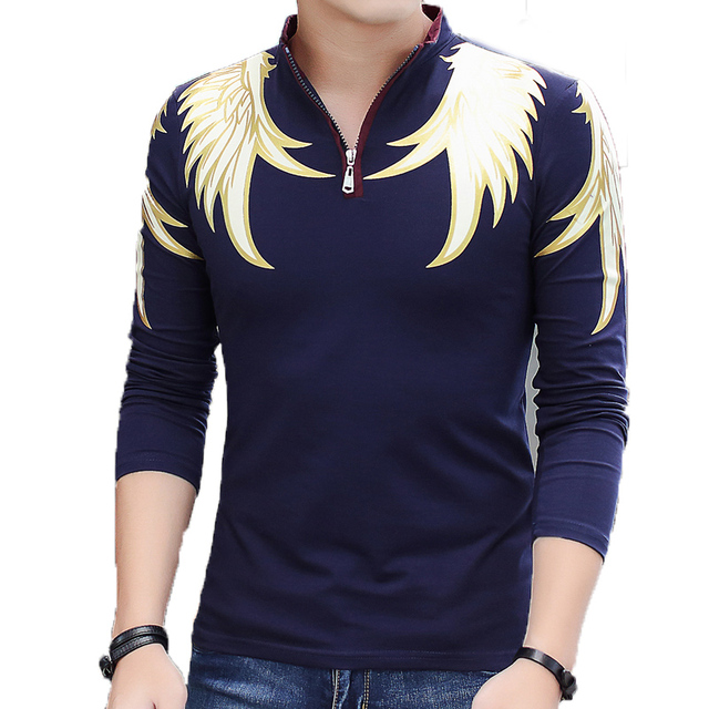 Fashion Solid Men's Polo Shirts Men's Casual Slim Long Sleeve Men Polo Shirt Turn-down Collar Mens Pullovers