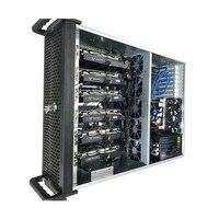 Добыча Rig случае USB шахтер PC сервер стойки CryptoNote Open Air рамки ETH Monero монета 4U с замком RX570 GTX 1070 1080 6 GPU карты