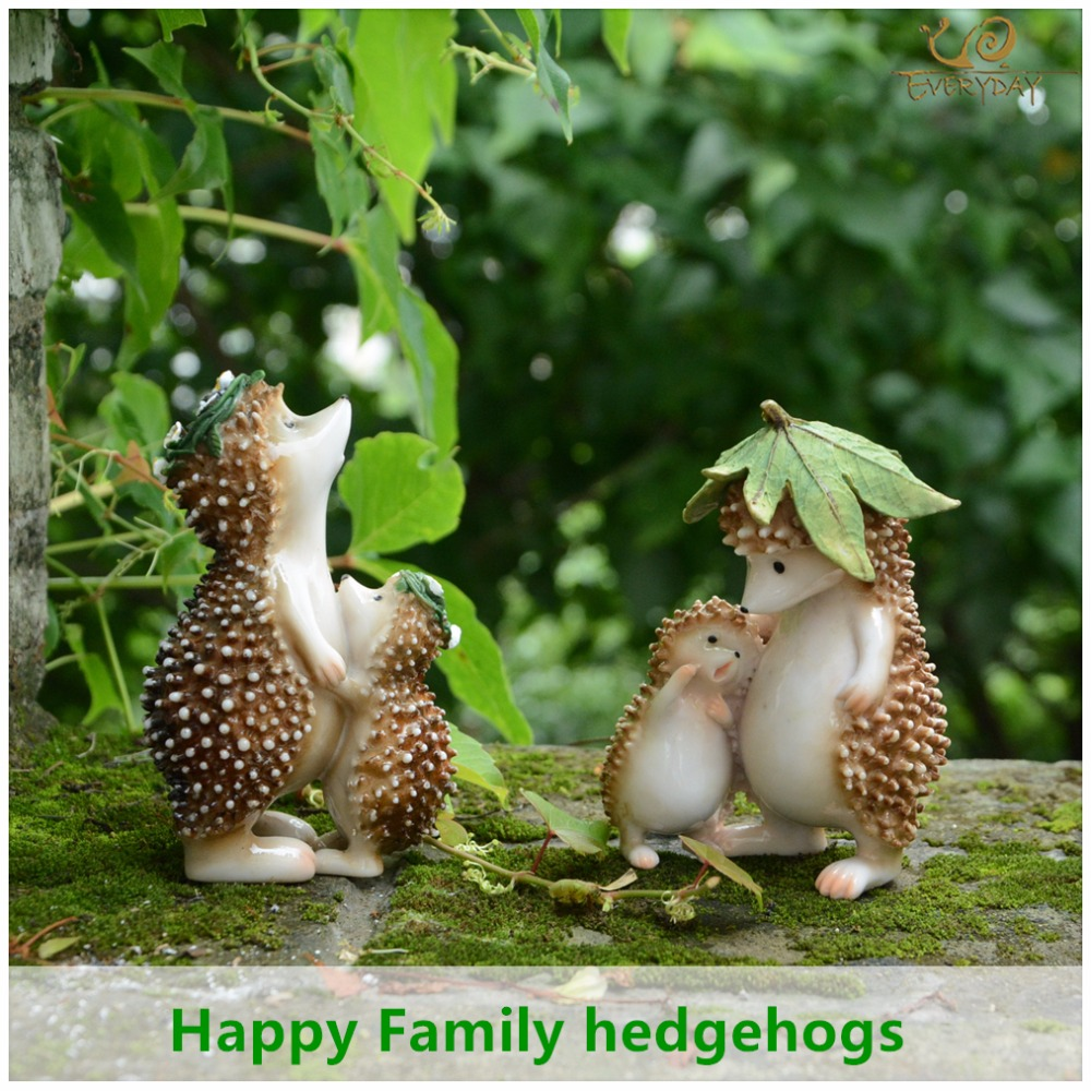 Everyday Collection Resin family hedgehog fairy garden decorations ...