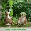 Everyday Collection Mini Fairy Garden Decoration Hedgehog Animal Figurine Ornament Tabletop Balcony Home Decor 2