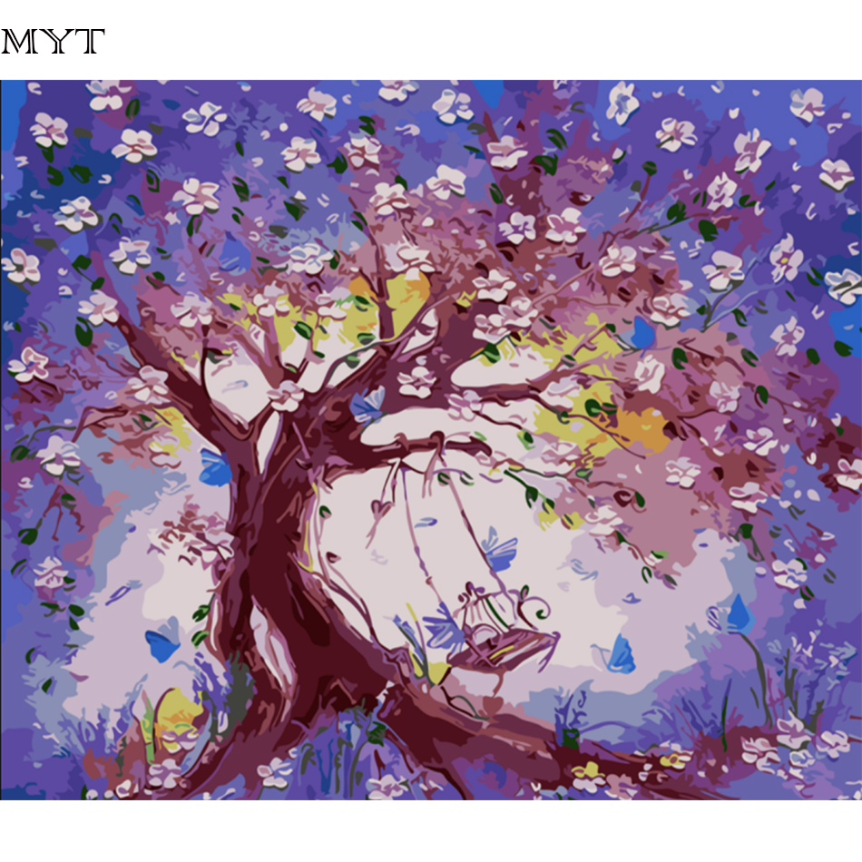 popular birthday flowers pictures buy cheap birthday flowers flower tree home decoration pictures paint by numbers christmas birthday unique gift canvaspainting pictures on the