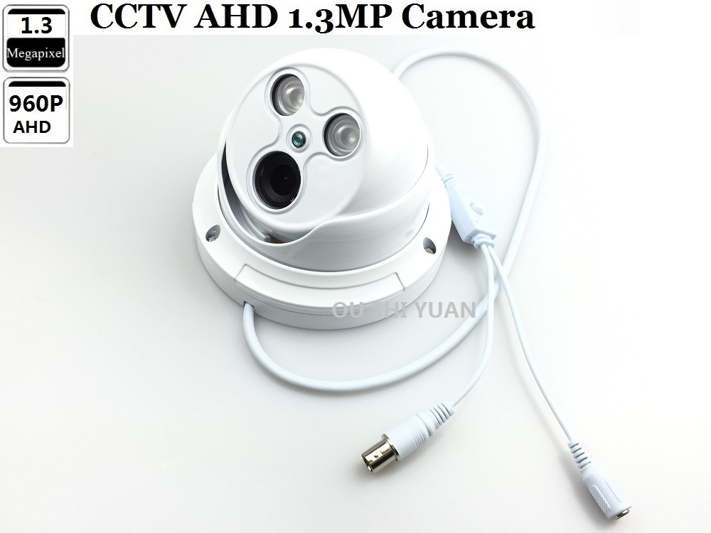 "1//3/"" 960P 1.3MP AHD Camera Sony IMX225+NVP2431H  CCTV Security AHD Dome Camera"