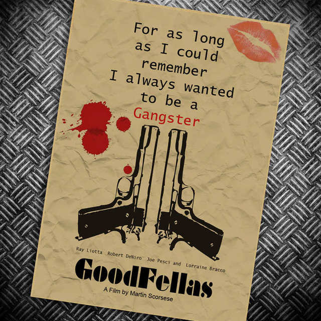 Goodfellas paint retro Classic Vintage Paper Movie Poster Kraft ...