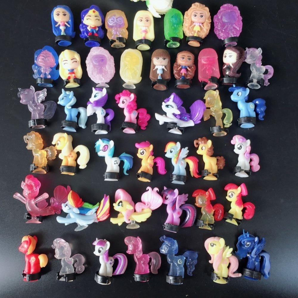 Mini 20pcs/lot Pony Action Figures Princess Soft Rubber Vinyl Toy Dolls Birthday Toys Children Anime Soft Rubber 2018 Model Sets